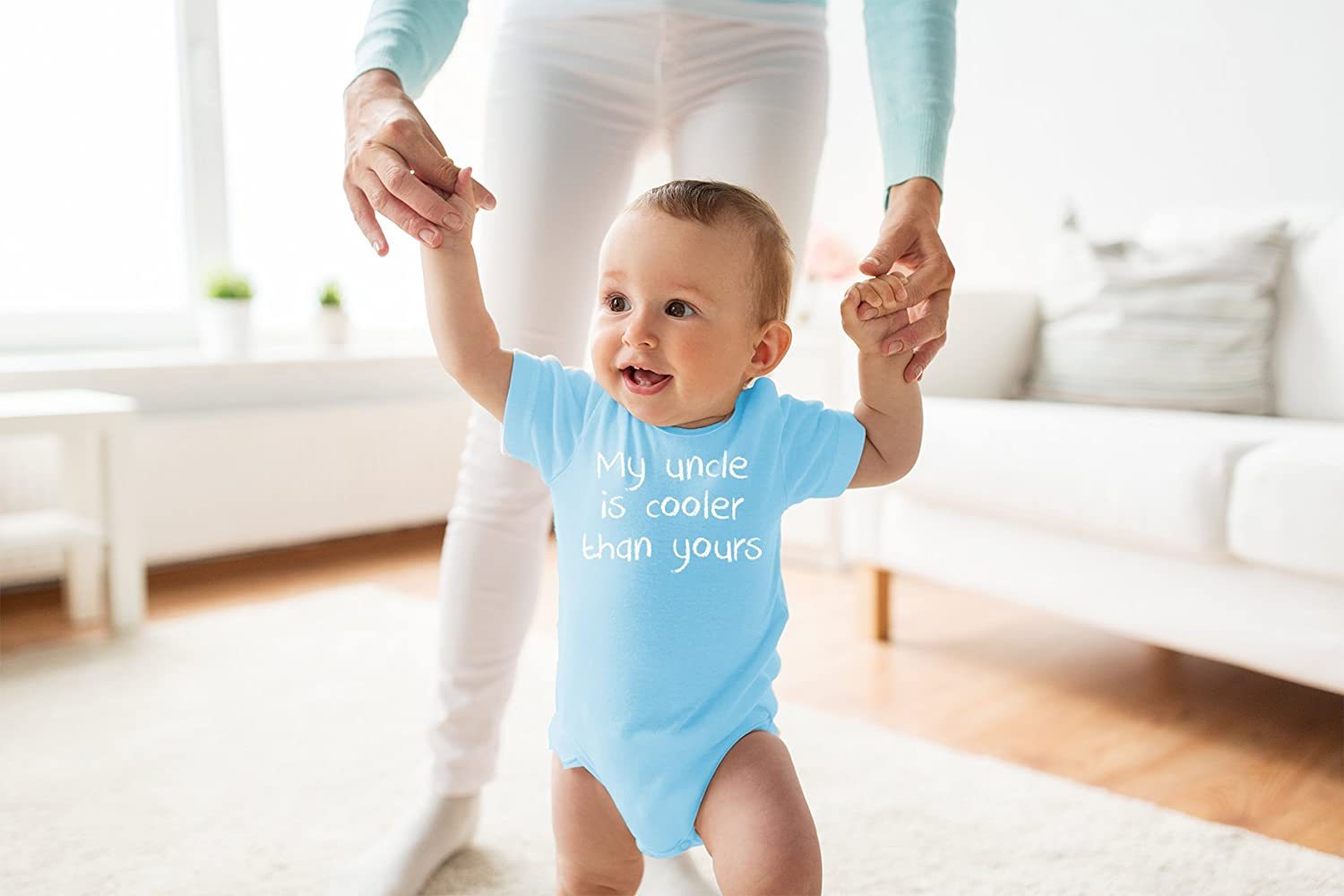Infant Creeper One-Piece Baby Bodysuit Funny Gift for Nephew Niece My Uncle is Cooler Than Yours