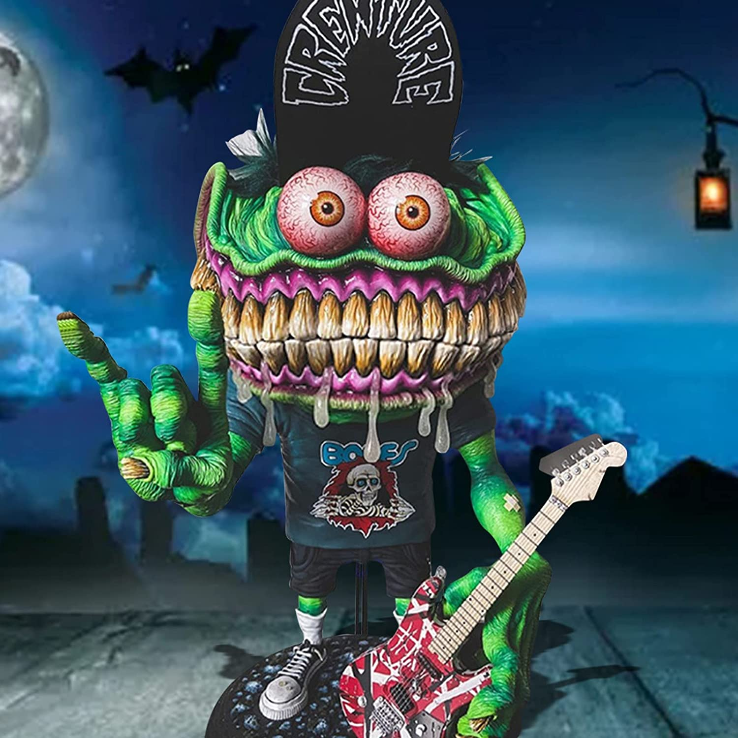 Halloween Decoration Special price OFFicial Angry Big Statue Mouth Figurines Eccentric