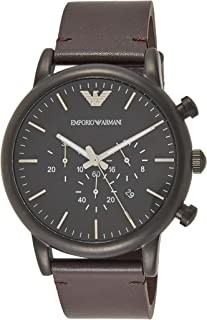 Emporio Armani Men's AR1919 Dress Brown Leather Watch