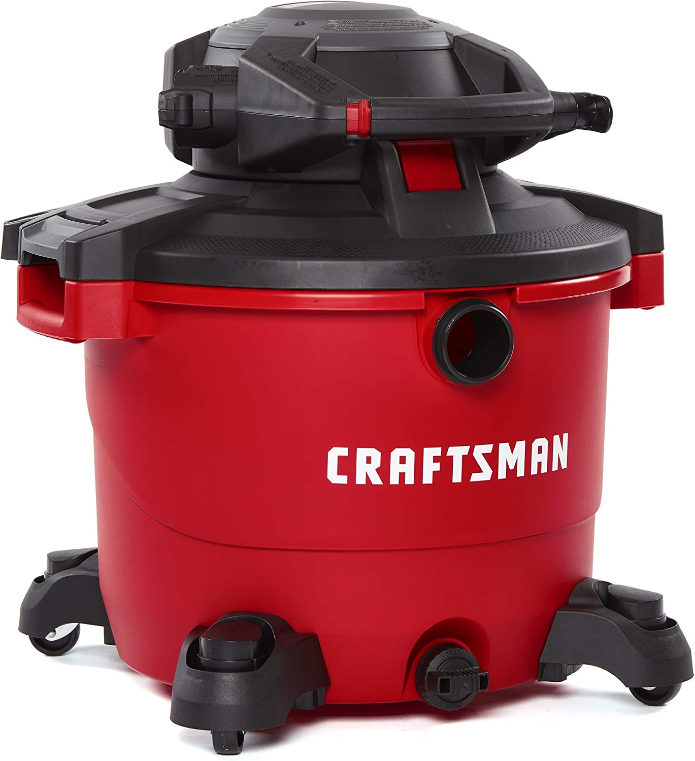 CRAFTSMAN CMXEVBE17607 16 gallon 6.5 Peak Hp Wet Dry Vac with Detachable Leaf Blower, Heavy-Duty Shop Vacuum with Attachments