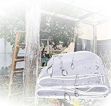 IDWOI schaduw- en regenbestendige zwembadtafelhoes Duidelijk Dekzeil, Outdoor Zachte PVC Regenhoes Kas Film Heavy Duty Wat...