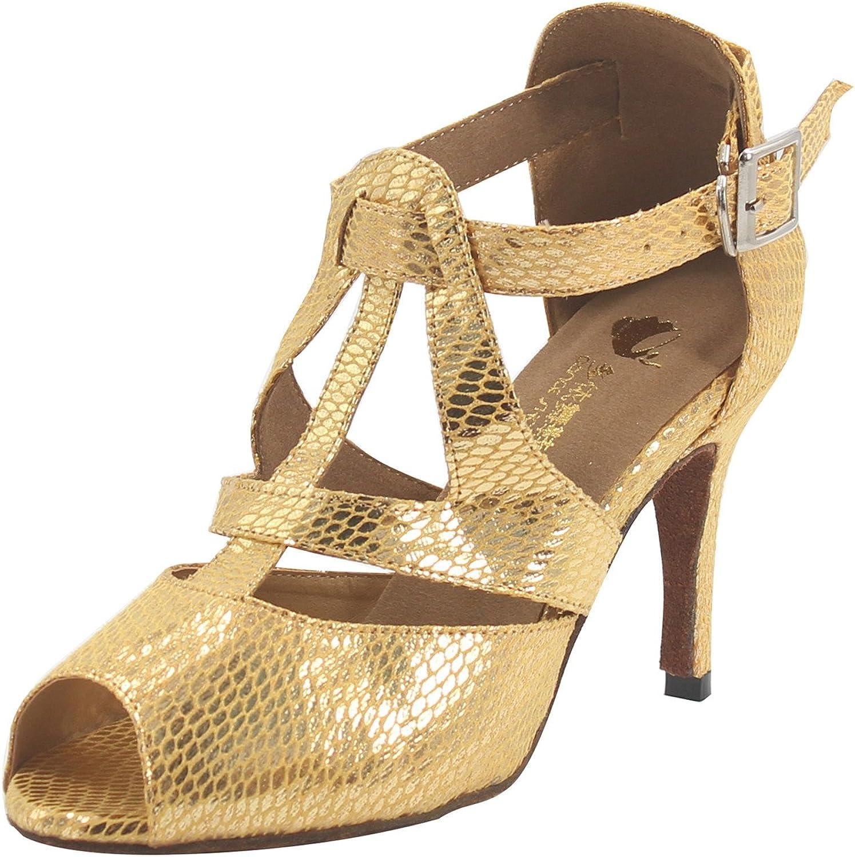 MsMushroom Woman's Bright Patent Leather Dance shoes 4  Heel