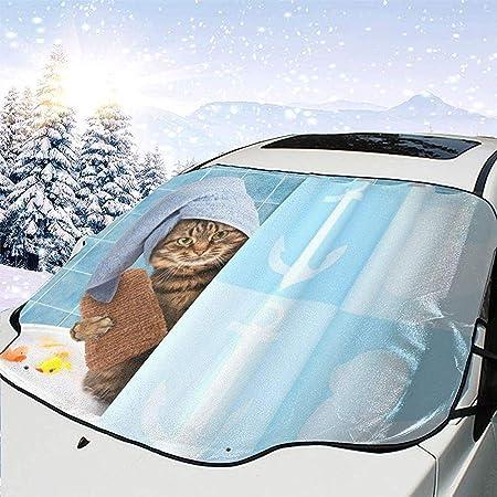 DDENG He-llo-Ki-tty Bow-Knot 147 x 118 cm Schnee Sonnenschutz 2 Multifunktions-Windschutzscheibe Schneedecke Auto Sonnenschutz wasserdichte Windschutzscheibe Winterschutz f/ür EIS Frost