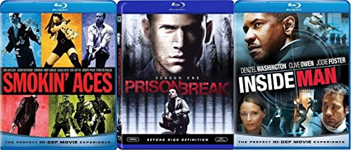 Guns Ablazin' and Siren's Arourin' - Smokin' Aces, Prison Break (Season One) and Inside Man 3-Action Movie Blu-ray Bundle