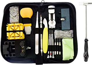 Stritra - Over 300pcs Professional Watch Repair Tools Kit Battery Replacement Watch Band Link Pin Spring Bar Tool Back Remover and Opener with Carrying Case