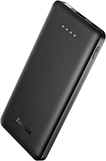 EasyAcc Slim 10000 mAh Power Bank, QC 3.0 Quick Charge Portable Charger External Battery for iPhone Android and More - Black