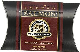 Alaska Smokehouse Smoked Salmon Fillet In A Black Box With A Crimson Wrap, 2 Ounce box