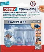 tesa 58813-00002-00 58813-00002-00-Powerstrips PS Transparante Deco Hook L, 2-delige set