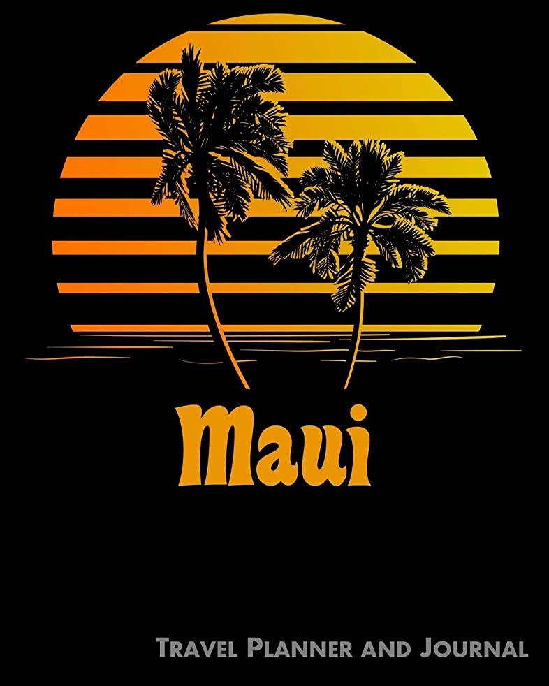 トムオードリース発行スリップシューズMaui Travel Planner and Journal: Beach Vacation Travel Planner and Diary (8 x 10)