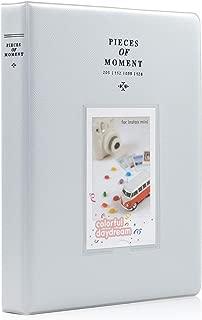 Ablus 128 Pockets Mini Photo Album for Fujifilm Instax Mini 7s 8 8+ 9 25 26 50s 70 90 Instant Camera & Name Card (Smokey White)