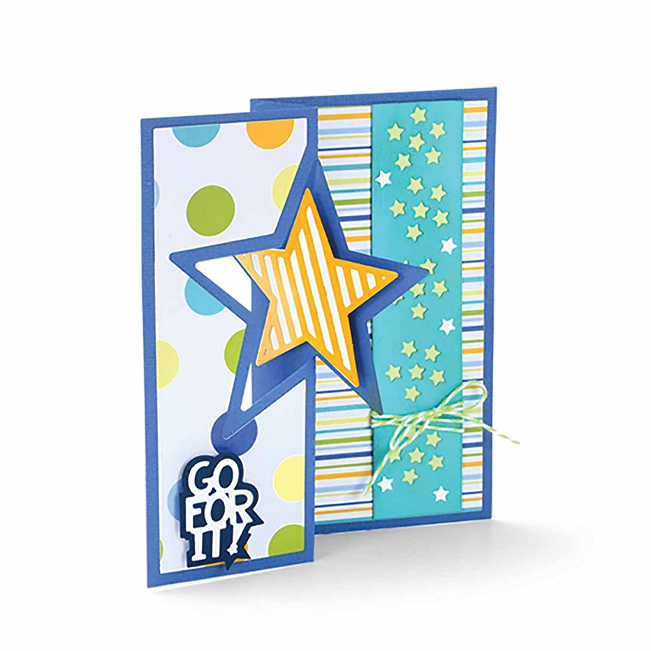 Sizzix 661565 Framelits Die Set, Card, Star Flip-its by Stephanie Barnard (16-Pack)