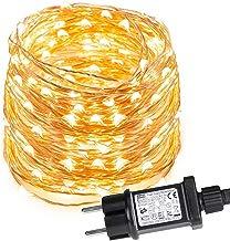 LE 10m 100 LED Luces de Cadena Blanco Cálido, Guirnalda de Luces LED Impermeable IP65, Cadena de Luces LED Decoración de Fiestas, Casa, Arbol de Navidad, Balcón, Jardín etc.