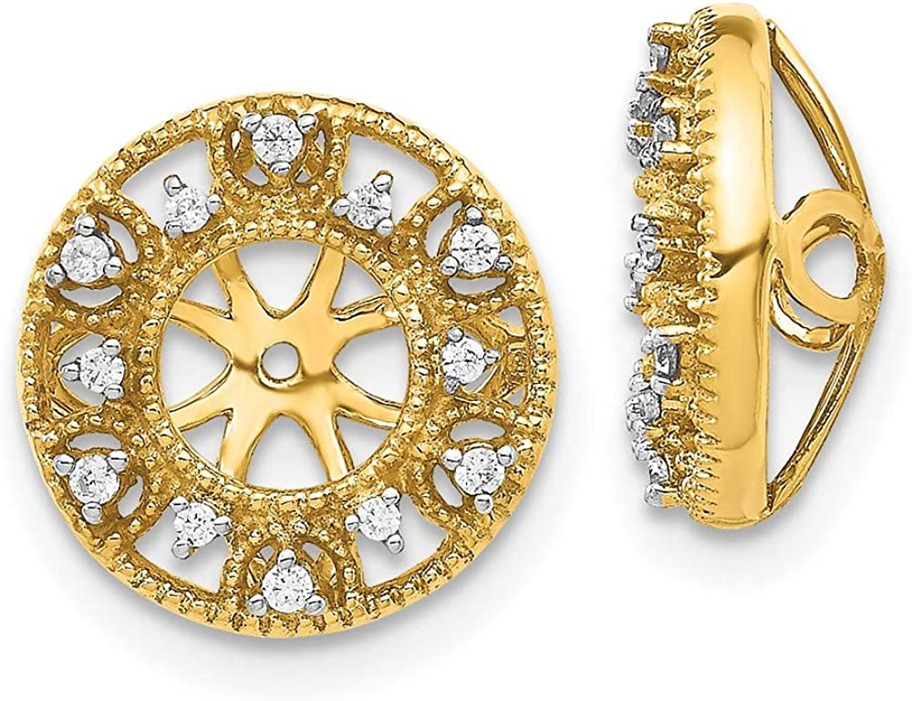 14k Yellow Gold Diamond Ear Jacket Jackets For Studs Ejm Fine Jewelry For Women Gifts For Her