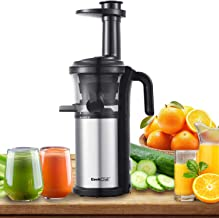 Slow Masticating Juicer Geek Chef Extractor Compact Cold Press Juicer Machine with Portable Handle/Quiet Motor/Reverse Fun...