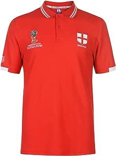 FIFA World Cup 2018 England Polo Shirt Mens Red Football Soccer Top Tee