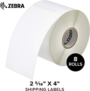 """Zebra - Dymo Shipping Labels 2 5/16"""" x 4"""" Compatible with Dymo LabelWriter Printer - 8 Rolls"""