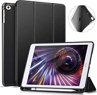 Ztotop iPad 9.7 Inch 2018/2017 Case with Pencil Holder - Lightweight Soft TPU Back Cover with Auto Sleep/Wake, Protective for Apple iPad 6/5th Generation(A1822/A1823/A1893/A1954),Black