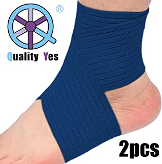 QY 2Pack Ankle Support Knee Support Wrist Support--Dark Blue