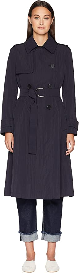 Sesto Double Breasted Tie Waist Trench Coat