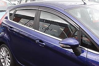 Autoclover - Juego de deflectores de Viento para Ford Fiesta MK7 2009 – 2017 5 Puertas