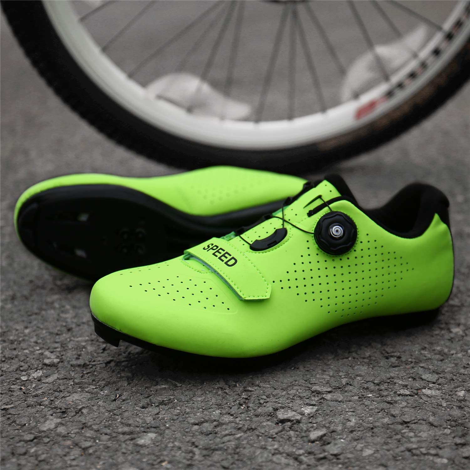 SANYES Mens Cycling Shoes Breathable Road Bike Mountain Bike SPD//SPD-SL Compatible Peloton Bike Indoor Spin Shoes