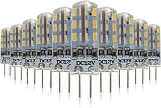 Mininono G4 Bombilla LED - 1.5W/150LM, equivalente a 20W, Blanco Neutro 4000K, DC/AC 12V, no regulable, Pack de 10