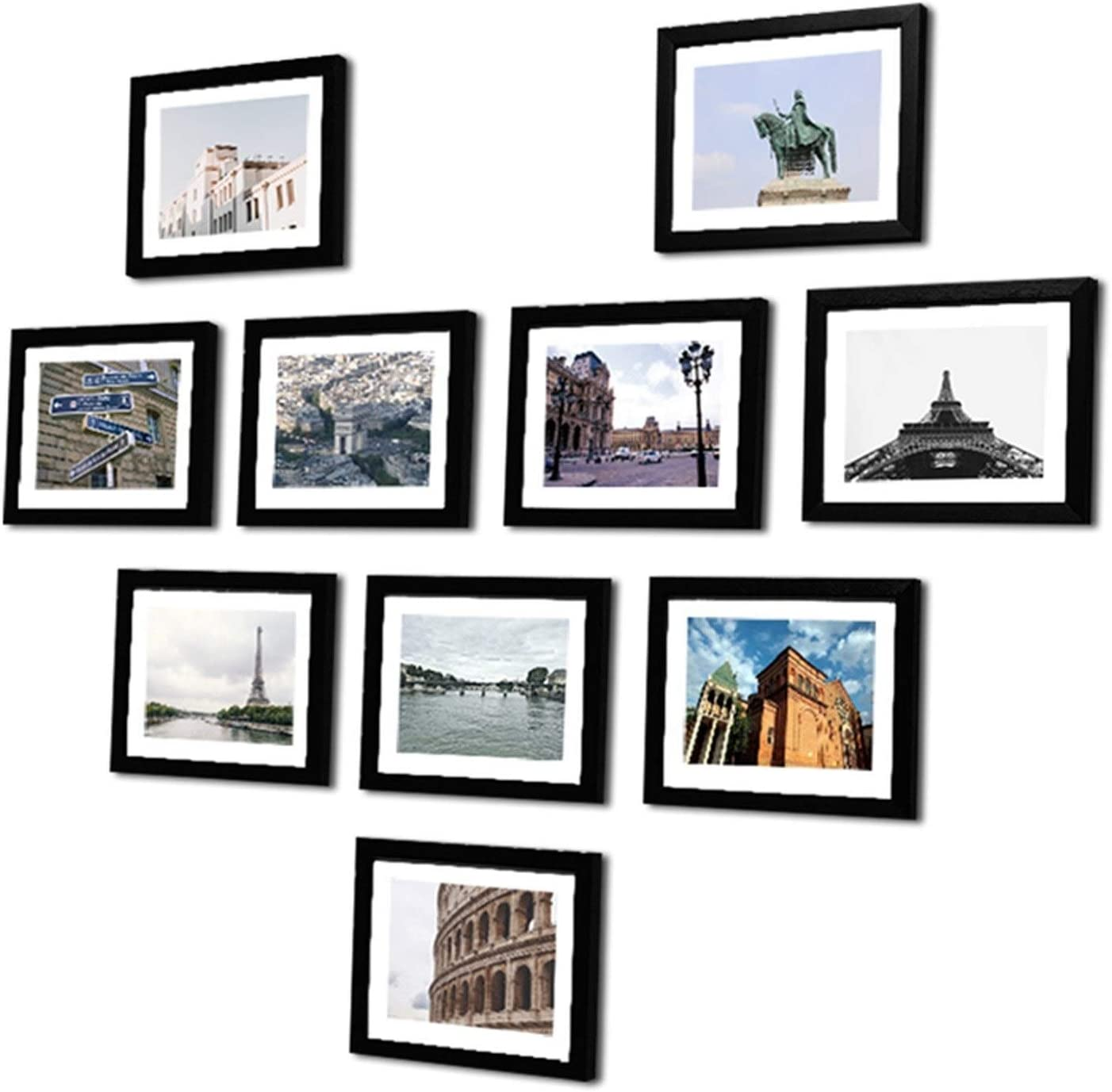 XIALITR Photo Cash special price Frame 10 Pcs Max 40% OFF Pictures Wall Wooden for