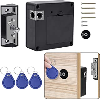 OCGIG Electronic Cabinet Lock with RFID Card and Tag Entry Hidden DIY Lock for Wooden Drawer Cabinet