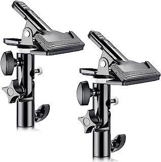 'Neewer® 2pezzi Foto Studio Ad alte prestazioni metallo morsetto con 5/8lampada treppiede per riflettore