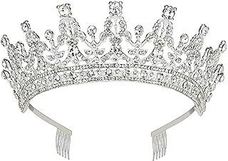 Livecitys Compleanno Nuziale diadema Fascia per Capelli con Strass Corona da Principessa Regina Sposa Tiara Pageant Prom Headwear