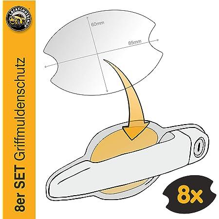 Luxshield Auto Türgriff Schutzfolie Griffmulde Für Macan 1 I 95b I 2014 2020 Kratzschutz Lackschutzfolie Transparent Glänzend Auto