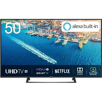 "Hisense H50BE7200 Smart TV LED Ultra HD 4K 50"", HDR10, Dolby DTS, Single Stand Slim Design, Tuner DVB-T2/S2 HEVC Main10, Nero [Esclusiva Amazon - 2019]"