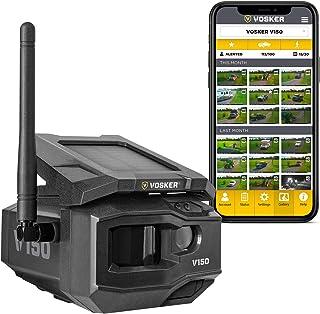 VOSKER V150   LTE Cellular Security Camera, No Wi-Fi Needed   Solar-Powered Wireless Outdoor Surveillance Camera   Receive...