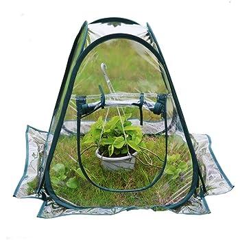 "Mini Pop up Greenhouse Small Indoor Outdoor Gardening Flowerpot Cover Backyard Flower Shelter 27""x27""x31"""