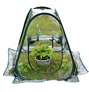Mini Pop up Greenhouse Small Indoor Outdoor Gardening Flowerpot Cover Backyard Flower Shelter 27