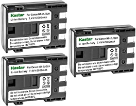 Kastar Battery (3-Pack) for Canon NB-2L NB-2LH NB-2L12 NB-2L14 NB-2L24 and PowerShot G7 G9 S30 S40 S45 S50 S60 S70 S80 DC410 DC420 VIXIA HF R10 HF R100 HF R11 EOS 350D 400D Digital Rebel XT Xti