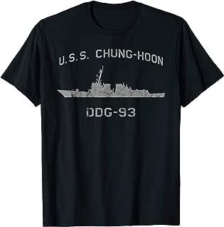 USS Chung-Hoon DDG-93 Destroyer Ship Waterline Tee