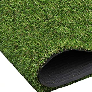 YNFNGX 25mm Pile High Artificial Turf, Realistic Thick Fake Imitation Straw Mat Outdoor Balcony Garden Synthetic Grass Car...