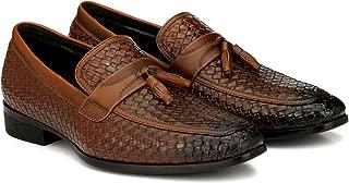 San Frissco Men's Tan Formal Shoes-8 UK (42 1/3 EU) (8.5 US) (EC9495Tan_8)