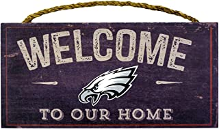 Fan Creations Welcome Philadelphia Eagles Distressed 6 x 12, 6 x 12, Multicolored
