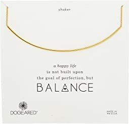 Dogeared Balance Delicate Bar Choker Necklace