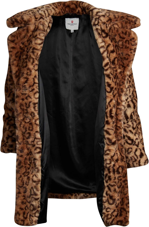 Urban Republic Womens Teddy Coat Faux-Shearling Fur Jacket Overcoat