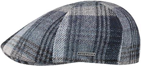 Made in The EU Cappellino Lana Cappello Piatto con Visiera Fodera Autunno//Inverno Stetson Coppola Brooklin Classic Wool Uomo