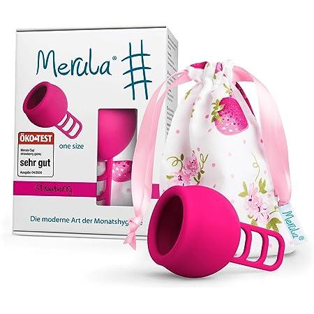 Merula Cup strawberry (rosa) - Tamaño único copa menstrual de silicona de grado médico