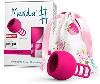 Merula Cup strawberry (pink) - One size Menstruationstasse a