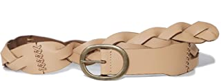 Lucky Brand Women's Wafer Tan 2 Inch Braided Leather Belt