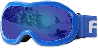 Kids Ski Goggles, Snowboard Goggles - AKASO Snow Goggles for Youth, Kids & Teenagers, Anti-Fog, 100% UV Protection, Double-Layer Spherical Lenses, Helmet Compatible