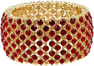 Tennis Rhinestone Stretch Bracelets Bridal Evening Party Jewelry for Woman Bangle