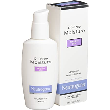 Neutrogena Oil Free Moisture Daily Hydrating Facial Moisturizer Neck Cream With Glycerin Fast Absorbing Ultra Gentle Lightweight Face Lotion Sensitive Skin Face Moisturizer 4 Fl Oz Pack
