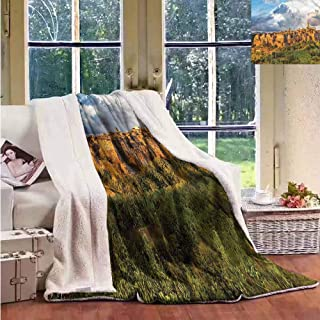 Sunnyhome Cashmere Velvet Medieval Medieval Town Houses Upgraded Thick Lazy Blanket W59x31L